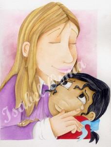 ilustracion isabel osma niña mama hema