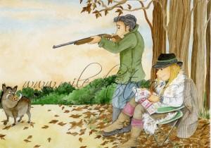 x - De caza