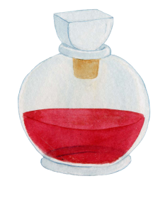 frasco rojo