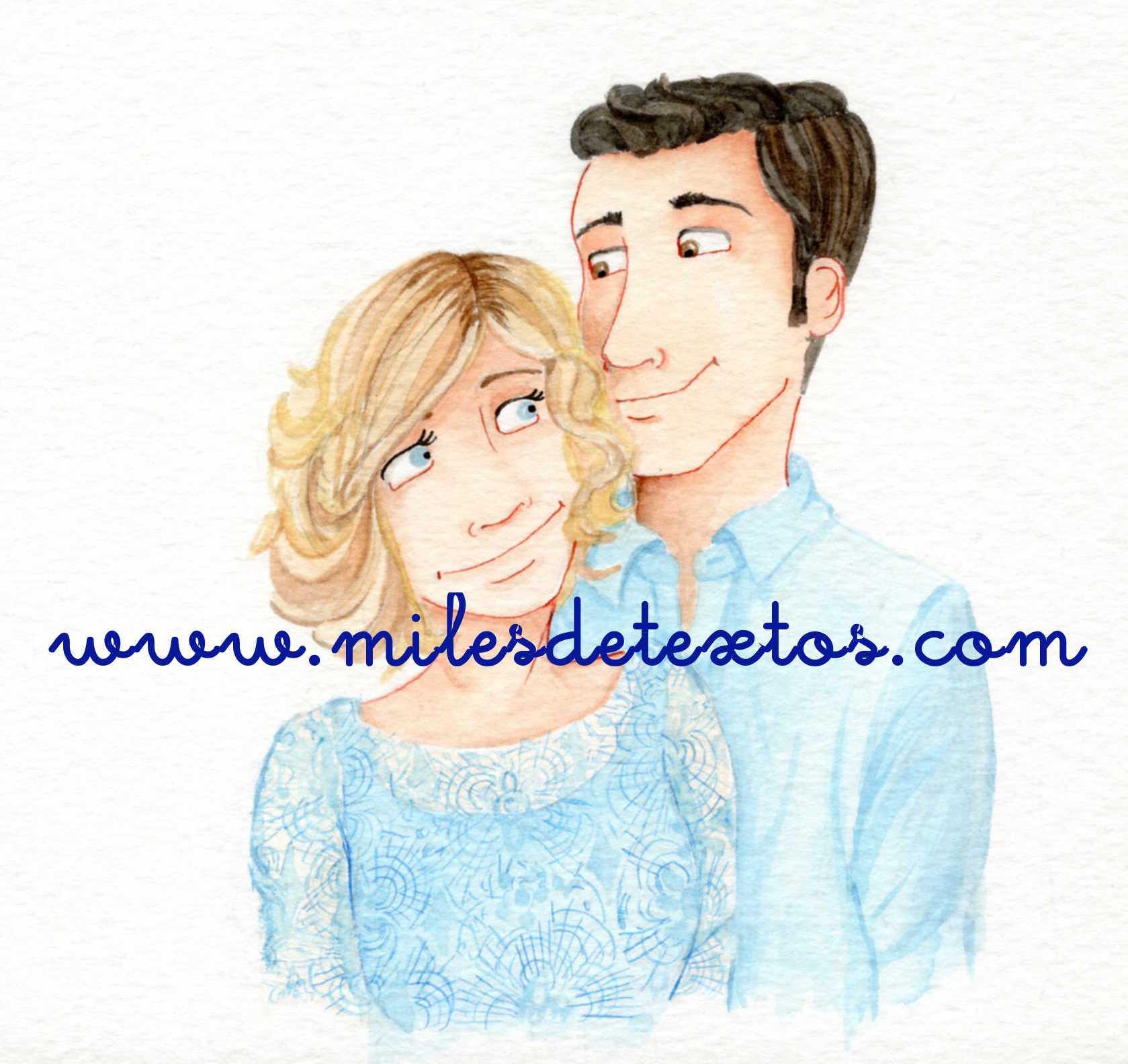 Ilustración Carla y David.www.milesdetextos.com