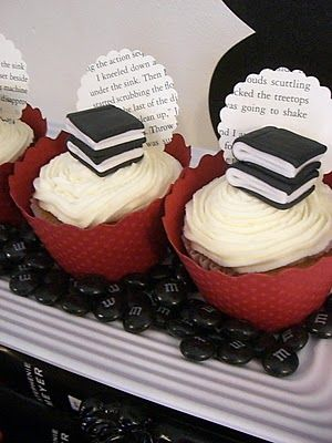 Cupcakes de libros