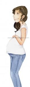 Chica embarazada.www.milesdetextos.com..