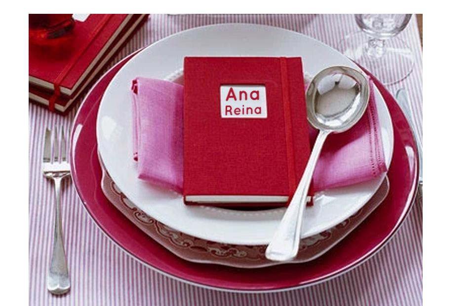 Cuadernos como marcadores de sitios de mesa