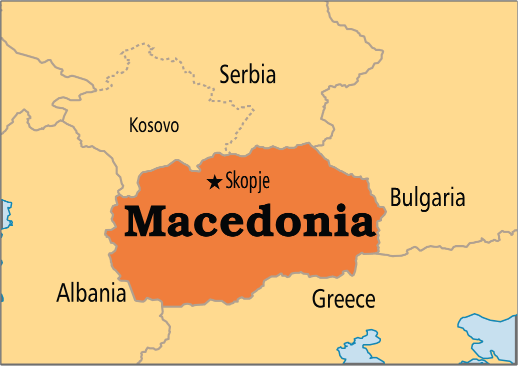 Macedonia-mapa