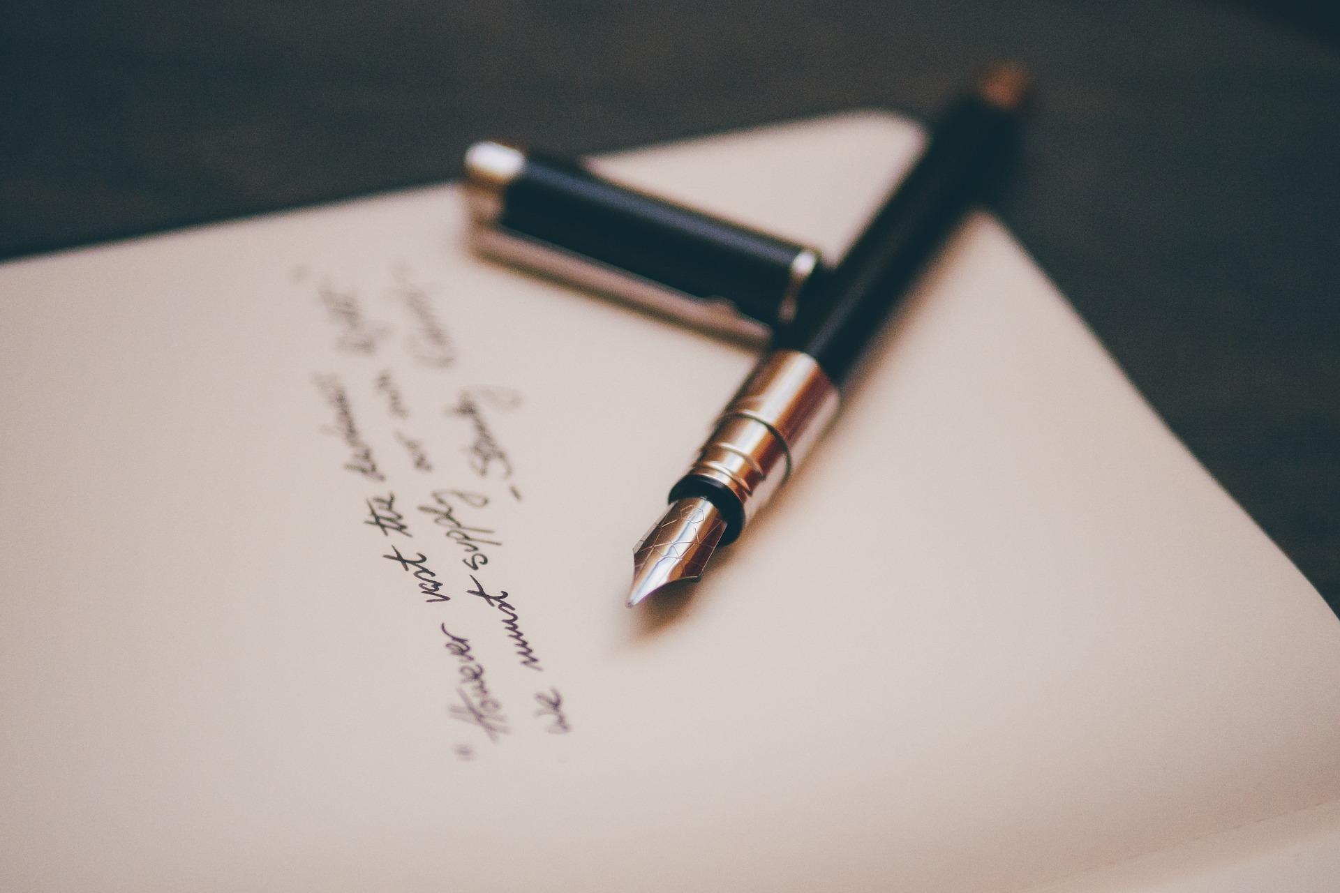 pluma escribir