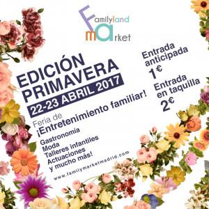 flyer de Abril Familyland MArket